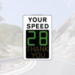 Multi colour speed display sign